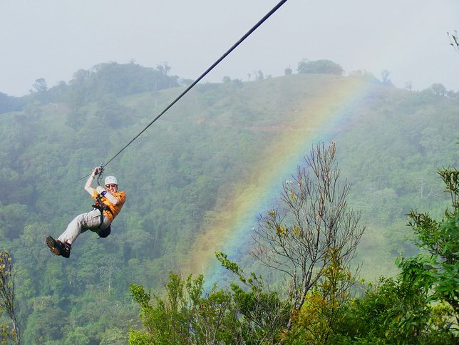 Zip-lining Costa Rica, photo by David Traish