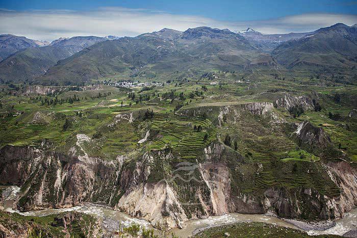 The beautiful scenery of Colca Canyon, Peru