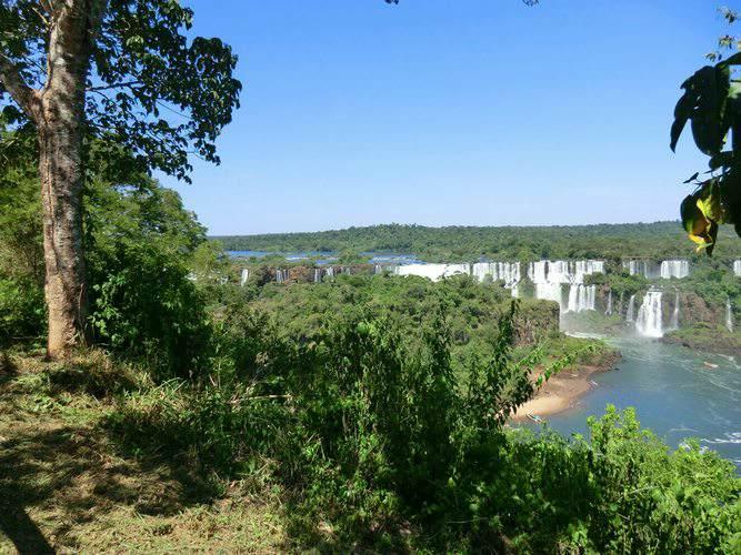 Hiking around Iguazu Falls Brazil