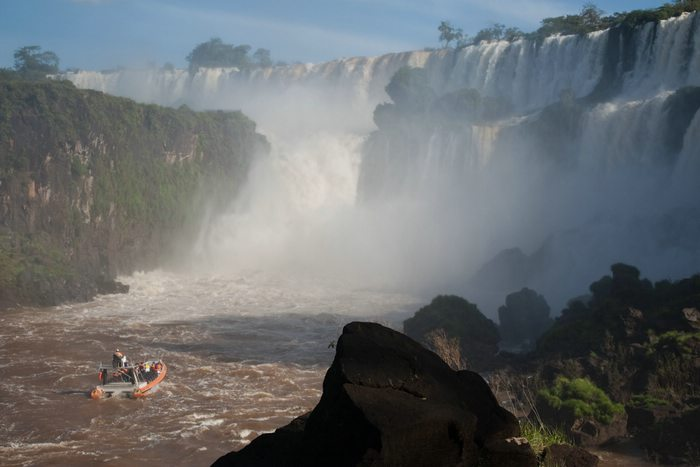 Iguazu Falls from the bottom Argentina