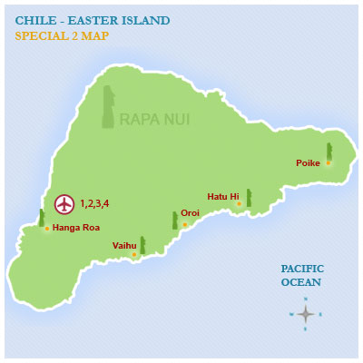 Easter Island Mysteries Tour Itinerary Easter Island Tours - Easter island map