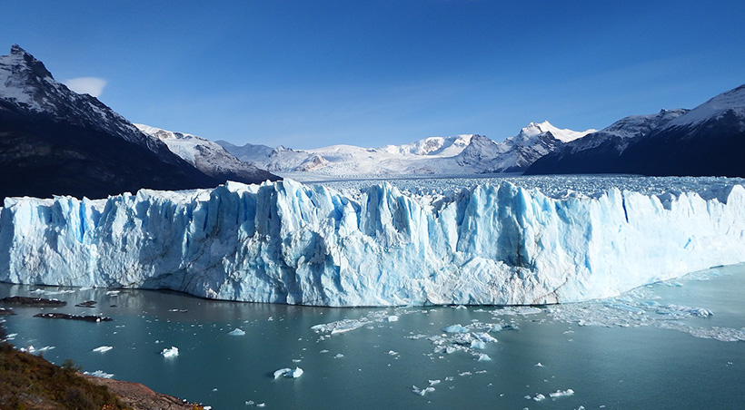 Perito Moreno, a majestic blue-tinted glacier in Los Glaciares National Park near El Calafate.
