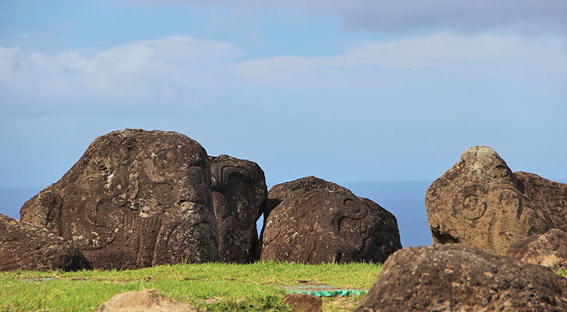 Fascinating petroglyphs found in Orongo, an important ceremonial village on Easter Island.