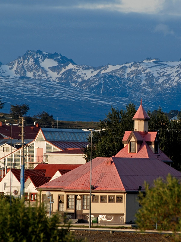 The Andes Mountains overlooking Bariloche, an Argentinian town known for its Swiss alpine style.