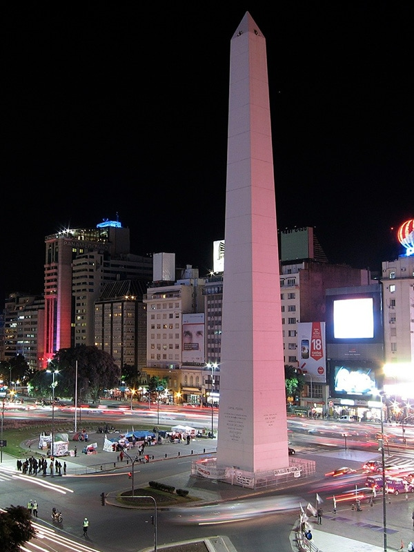 The Obelisk of Buenos Aires, a historic monument and one of the city's most recognizable places.