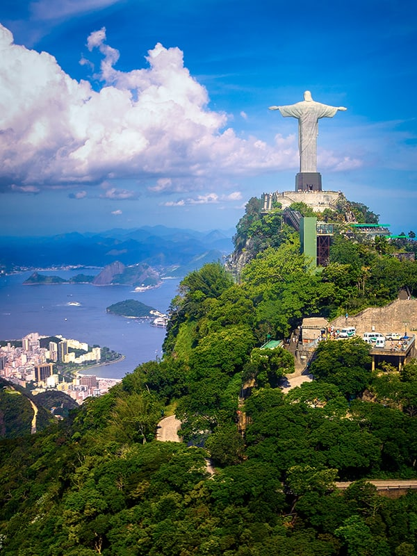 Christ the Redeemer, Rio's most famous landmark and one of the New 7 Wonders of the World.