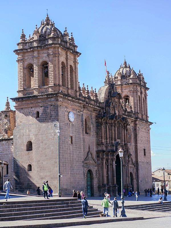 Cusco Cathedral, an impressive colonial-era church in Cusco, the former capital of the Inca Empire.