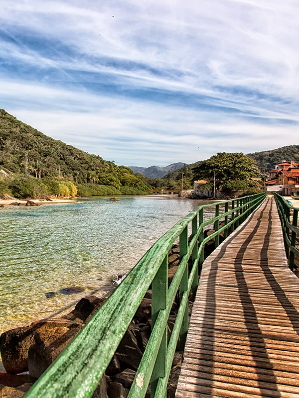 A boardwalk in Florianópolis, a resort town in southern Brazil famous for its beaches.