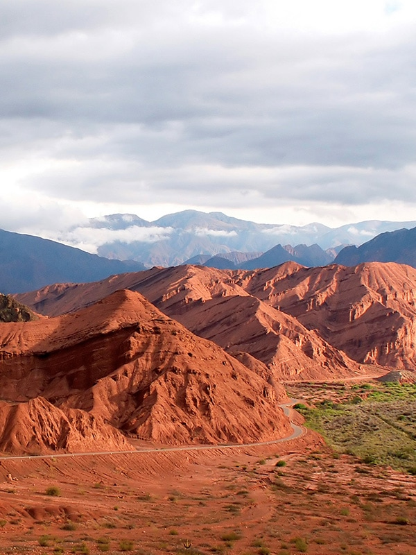Scenic red gorges and rock formations near the northern Argentinian city of Salta.