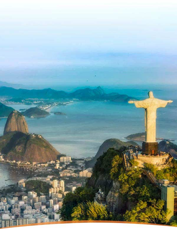 The Christ the Reeder statue, one of the New 7 Wonders of the World and a famous Rio landmark.