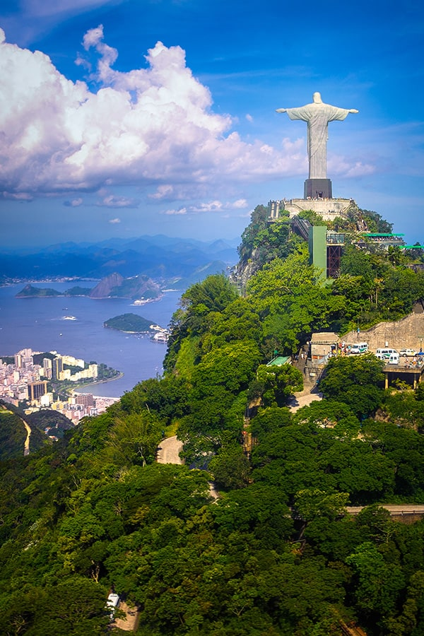 The Christ the Redeemer statue overlooking Rio de Janeiro, one of the New 7 Wonders of the World.