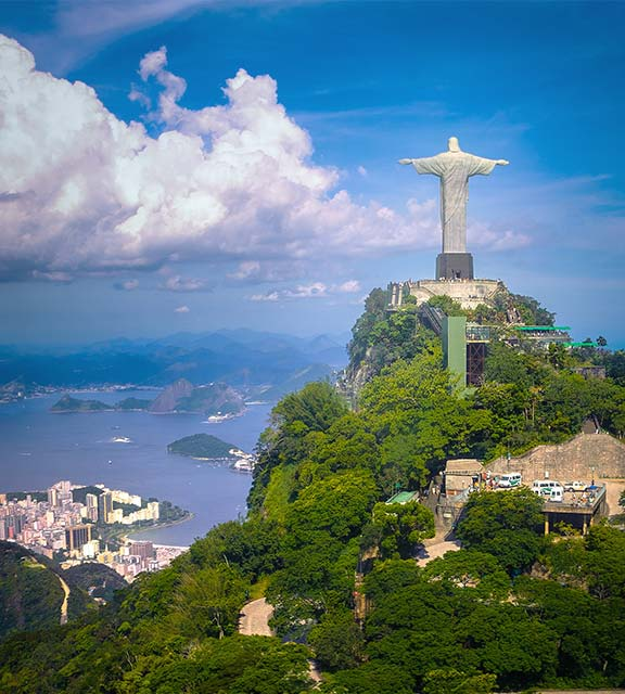 Rio de Janeiro's Christ the Redeemer statue, the city's most famous tourist attraction.